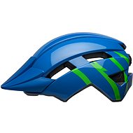 BELL Sidetrack II Youth Blue/Green - Kerékpáros sisak