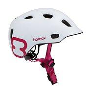 Hamax Thundercap street fehér / rózsaszín szalagok - Kerékpáros sisak