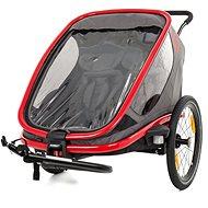 Hamax Outback 2in1 szürke/ piros / antracit - Bicikli után köthető gyermekutánfutó