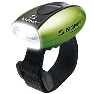 Sigma Micro zöld / elülső lámpa fehér LED - Kerékpár világítás