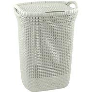 Curver Knit szennyestartó kosár 57L - krém - Ruháskosár