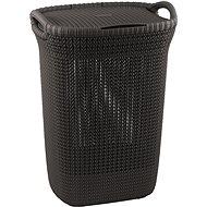 Curver Knit szennyestartó kosár 57L - barna - Ruháskosár