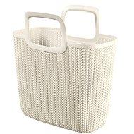 Curver kötött, krémszínű bevásárló táska - Bevásárló táska