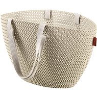 Curver Knit Emily bevásárló táska krém - Bevásárló táska