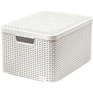Curver Style doboz tetővel L krémszín - Tárolódoboz
