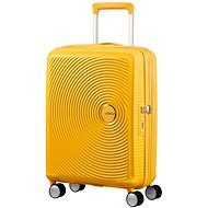 American Tourister Soundbox Spinner 55 Exp Golden Yellow - TSA záras utazóbőrönd