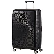 American Tourister Soundbox Spinner 77 Exp Bass Black - TSA záras bőrönd