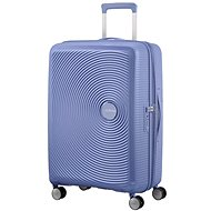 American Tourister Soundbox Spinner 67 Exp Denim Blue - TSA záras bőrönd