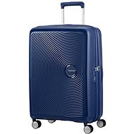 American Tourister Soundbox Spinner 67 Exp Midnight Navy - TSA záras bőrönd