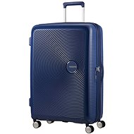 American Tourister Soundbox Spinner 77 Exp Midnight Navy - TSA záras bőrönd