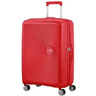 American Tourister Soundbox Spinner 67 Exp Coral Red - TSA záras bőrönd
