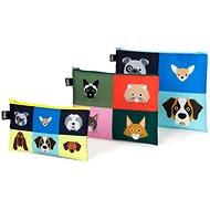 LOQI Stephen Cheetham Macskák és kutyák Zip zsebkendők - Szépségápolási utazókészlet
