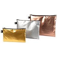 LOQI fém matt arany, ezüst, rózsaszín zseb zseb - Szépségápolási utazókészlet