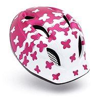 MET SUPER BUDDY gyerek sisak - pillangók/rózsaszín/fehér matt M/L - Kerékpáros sisak