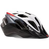 MET FUNANDGO - fehér/fekete/piros fényes S/M - Kerékpáros sisak
