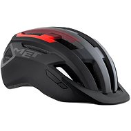 MET ALLROAD fekete/piros matt - Kerékpáros sisak