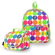 Mikro hátizsák és snack táska - neon pöttyök - Gyerek hátizsák