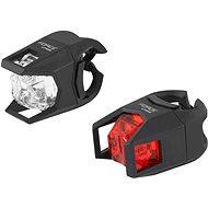 Force Cage fehér első + piros hátsó fény - Kerékpár lámpa