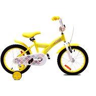 """OLPRAN Debbie 16"""", sárga / fehér - Gyerek kerékpár"""