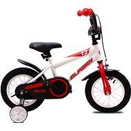 """OLPRAN Matty 12"""", fehér / piros - Gyerek kerékpár"""