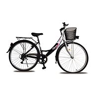 """Olpran Mercury Lux 28"""" L fekete/ezüst/rózsaszín - Cross kerékpár"""