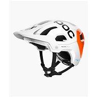 POC Tectal Race SPIN NFC Hydrogen White/Fluorescent Orange - Kerékpáros sisak