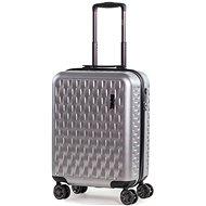 ROCK Allure TR-0192/3-S, ezüst - TSA záras bőrönd