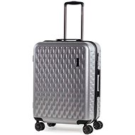 ROCK Allure TR-0192/3-M, ezüst - TSA záras bőrönd