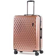 ROCK Allure TR-0192/3-L, rózsaszínű - TSA záras bőrönd