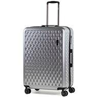 ROCK Allure TR-0192/3-L, ezüst - TSA záras bőrönd