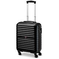 Modo by Roncato VENUS bőrönd, 55 cm, 4 kerék, fekete - TSA záras bőrönd