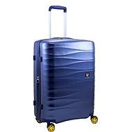 Roncato Stellar 76 cm, kék - TSA záras bőrönd