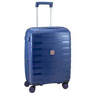 Roncato SPIRIT utazóbőrönd, 55 cm, EXP., 4 kerék, kék - TSA záras bőrönd
