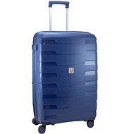 Roncato SPIRIT utazóbőrönd, 79 cm, EXP., 4 kerék, kék - TSA záras bőrönd