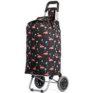 HOPPA ST-375, flamingó - Gurulós bevásárlótáska