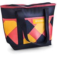 Spokey ACAPULCO Thermo táska kicsi, rózsaszín-kék-sárga, 39 x 15 x 37 cm - Hűtőtáska