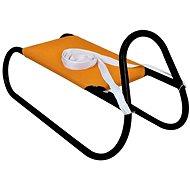 Szánkó fém 62 cm, narancssárga-fekete - Szánkó
