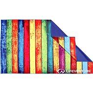 Lifeventure Printed SoftFibre Trek Towel striped planks - Törölköző