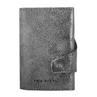 Tru Virtu Click & Slide - Glitter Silver bőr - Pénztárca