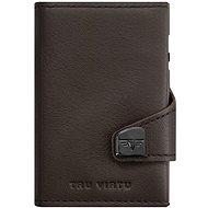 Tru Virtu  Click & Slide Twin Twin pénztárca - Nappa barna bőr - Pénztárca