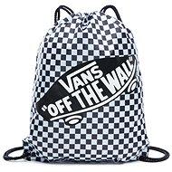 Vans WM BENCHED BAG Black/White Che - Hátizsák