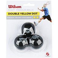 Wilson Staff Squash 3 Ball Double Yellow Dot - Squash labda