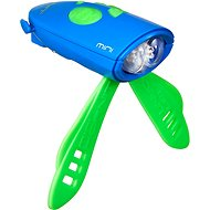 Kerékpár csengő Mini Hornit Szórakoztató duda fénnyel, kék