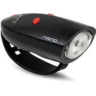 Kerékpár csengő Mini Hornit Nano Szórakoztató duda fénnyel, fekete