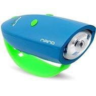 Kerékpár csengő Mini Hornit Nano Mókás kürt kék lámpával