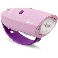 Kerékpár csengő Mini Hornit Nano Mókás kürt rózsaszín lámpával