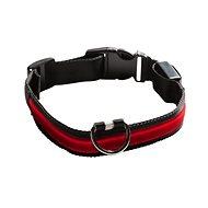 Eyenimal világító nyakörv kutyáknak - piros - M - Nyakörv
