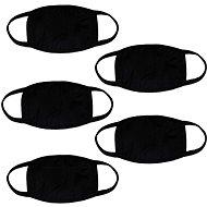 STX pamut maszk nyomtatás nélkül - fekete (5 db) - Szájmaszk