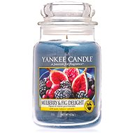 YANKEE CANDLE Classic Mulberry & Fig Delight, nagyméretű, 623 gramm - Gyertya