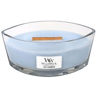 WOODWICK Soft Chambray Hearthwick Candle (453,6 gramm) - Gyertya